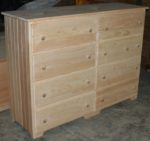 8 drawer V-match dresser